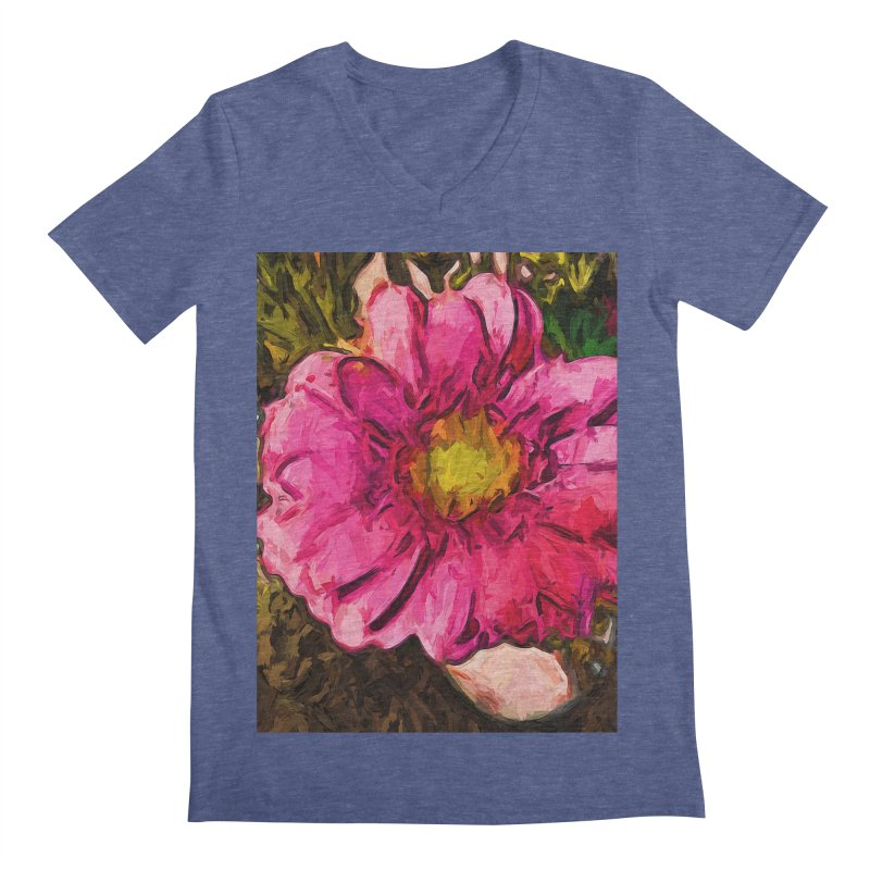 The Euphoria of the Pink and Yellow Flower Men's V-Neck by jackievano's Artist Shop
