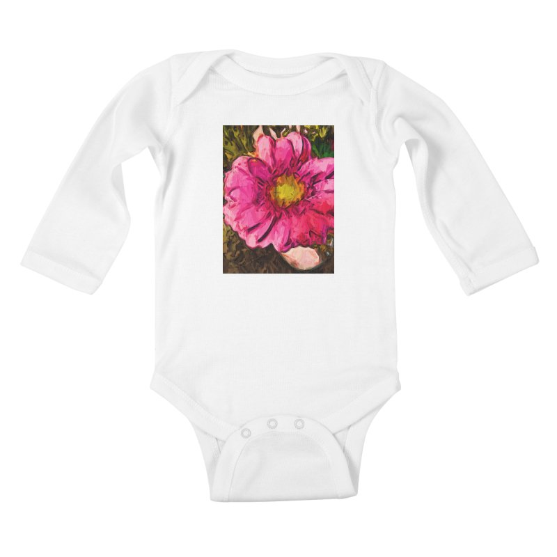 The Euphoria of the Pink and Yellow Flower Kids Baby Longsleeve Bodysuit by jackievano's Artist Shop
