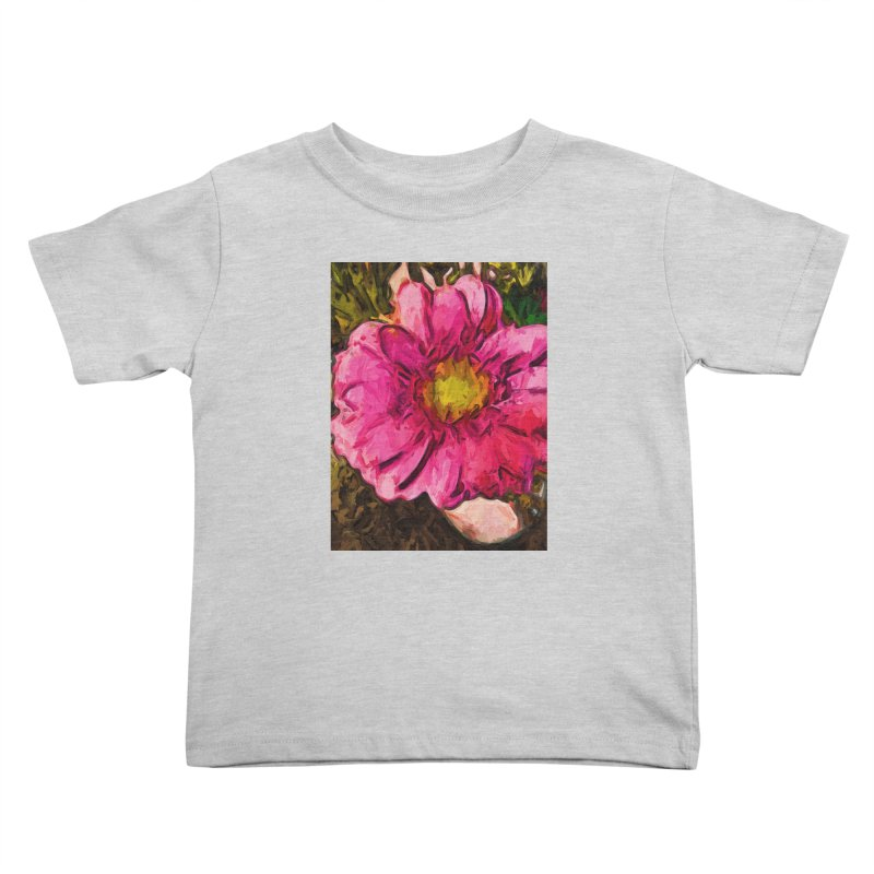 The Euphoria of the Pink and Yellow Flower Kids Toddler T-Shirt by jackievano's Artist Shop