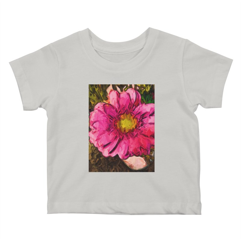The Euphoria of the Pink and Yellow Flower Kids Baby T-Shirt by jackievano's Artist Shop