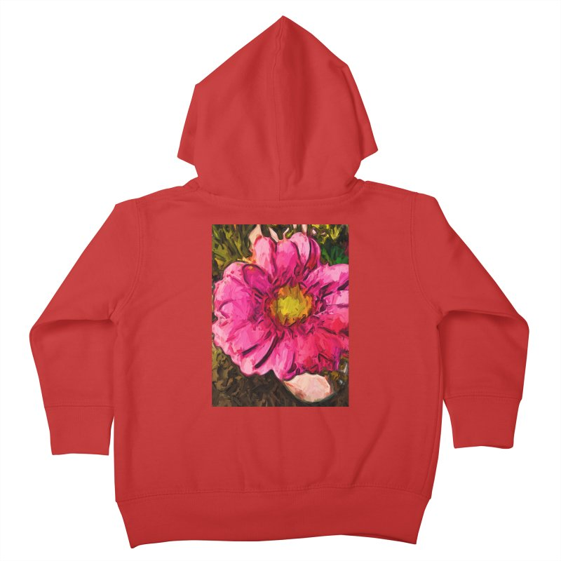 The Euphoria of the Pink and Yellow Flower Kids Toddler Zip-Up Hoody by jackievano's Artist Shop