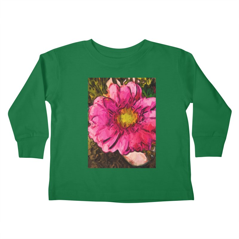 The Euphoria of the Pink and Yellow Flower Kids Toddler Longsleeve T-Shirt by jackievano's Artist Shop