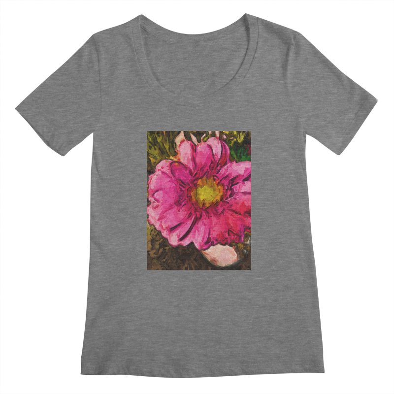 The Euphoria of the Pink and Yellow Flower Women's Scoopneck by jackievano's Artist Shop