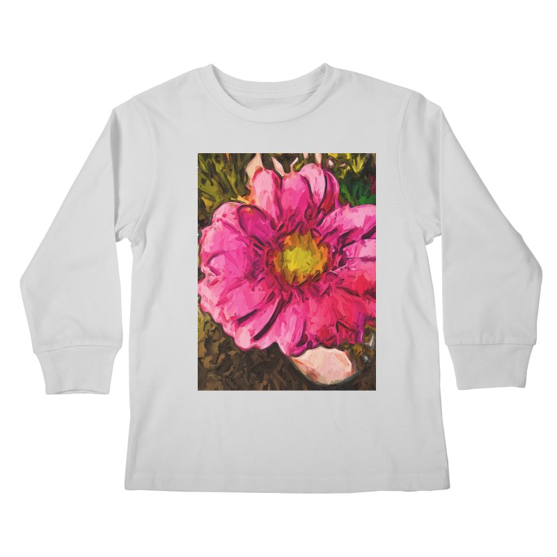 The Euphoria of the Pink and Yellow Flower Kids Longsleeve T-Shirt by jackievano's Artist Shop