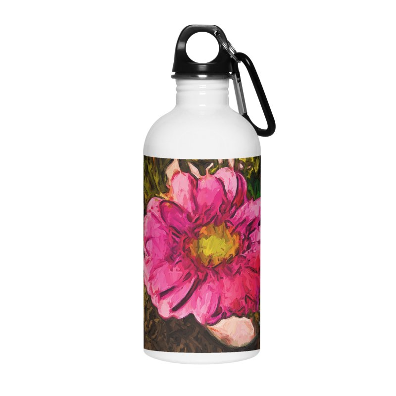 The Euphoria of the Pink and Yellow Flower Accessories Water Bottle by jackievano's Artist Shop
