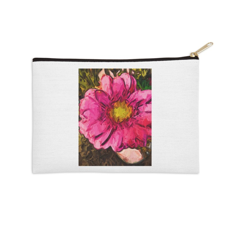 The Euphoria of the Pink and Yellow Flower Accessories Zip Pouch by jackievano's Artist Shop