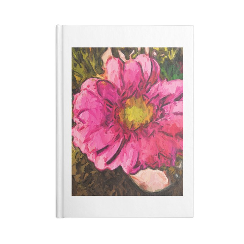 The Euphoria of the Pink and Yellow Flower Accessories Notebook by jackievano's Artist Shop
