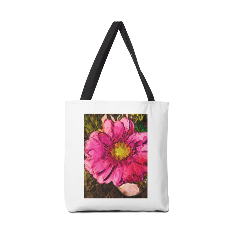 The Euphoria of the Pink and Yellow Flower Accessories Bag by jackievano's Artist Shop