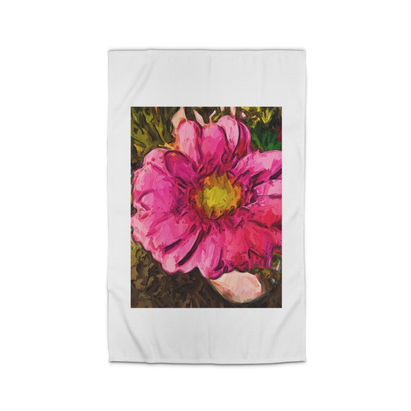 The Euphoria of the Pink and Yellow Flower Home Rug by jackievano's Artist Shop