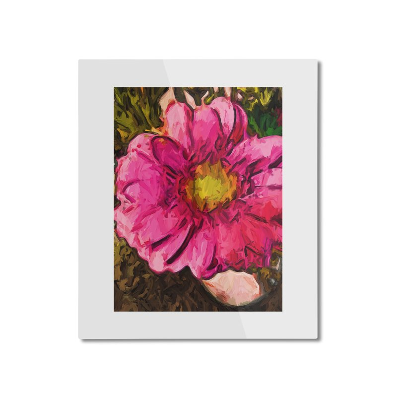 The Euphoria of the Pink and Yellow Flower Home Mounted Aluminum Print by jackievano's Artist Shop