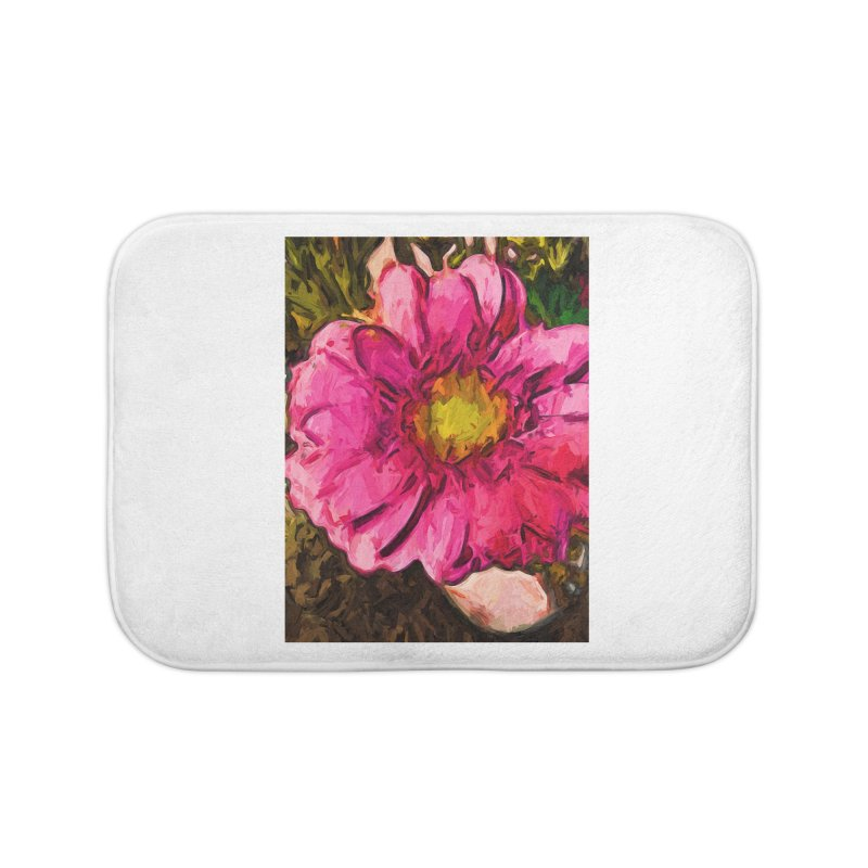 The Euphoria of the Pink and Yellow Flower Home Bath Mat by jackievano's Artist Shop