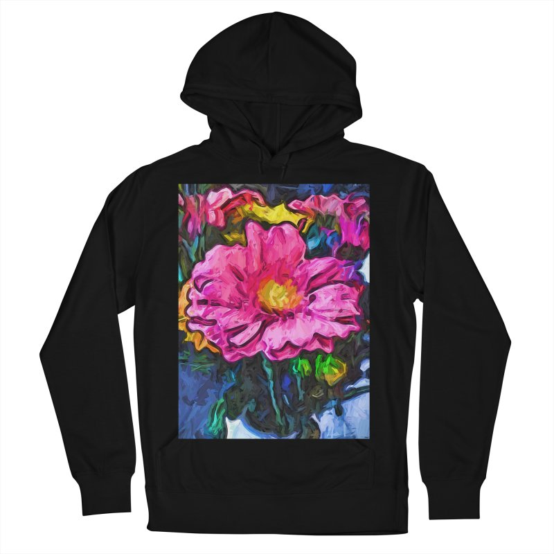 The Flames in the Soul of the Pink and Yellow Flower Women's Pullover Hoody by jackievano's Artist Shop