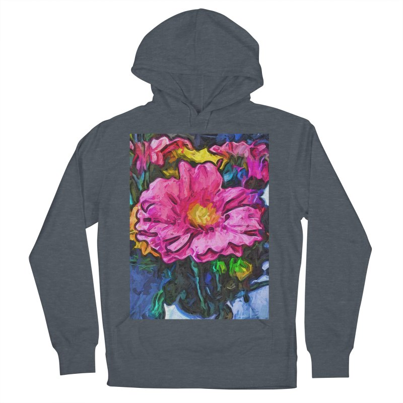 The Flames in the Soul of the Pink and Yellow Flower Men's Pullover Hoody by jackievano's Artist Shop