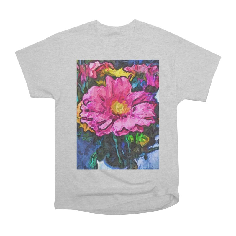 The Flames in the Soul of the Pink and Yellow Flower Men's Heavyweight T-Shirt by jackievano's Artist Shop
