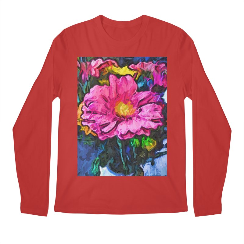 The Flames in the Soul of the Pink and Yellow Flower Men's Longsleeve T-Shirt by jackievano's Artist Shop