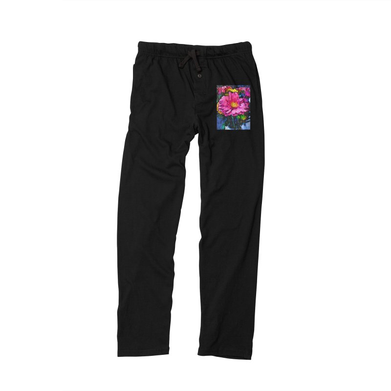 The Flames in the Soul of the Pink and Yellow Flower Men's Lounge Pants by jackievano's Artist Shop