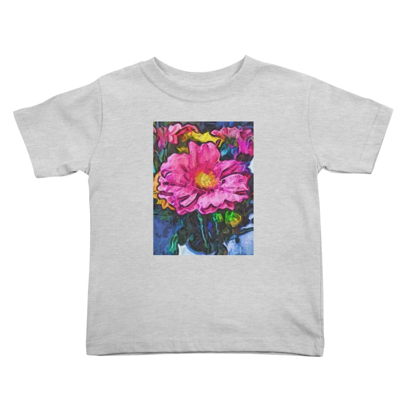 The Flames in the Soul of the Pink and Yellow Flower Kids Toddler T-Shirt by jackievano's Artist Shop