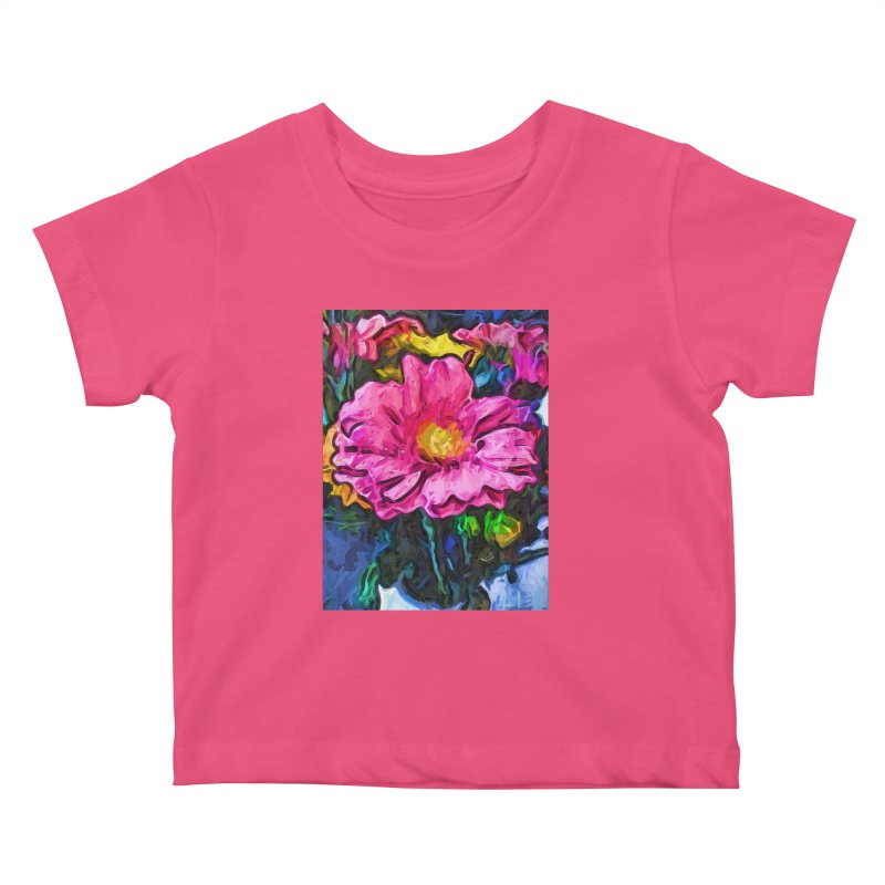 The Flames in the Soul of the Pink and Yellow Flower Kids Baby T-Shirt by jackievano's Artist Shop