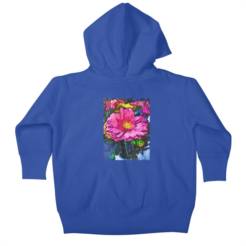 The Flames in the Soul of the Pink and Yellow Flower Kids Baby Zip-Up Hoody by jackievano's Artist Shop