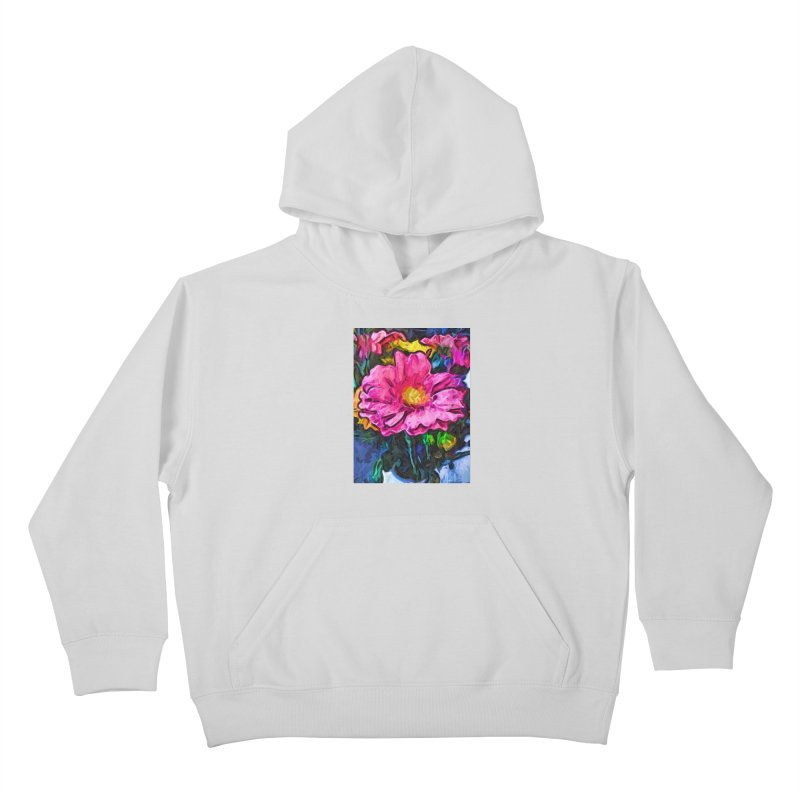The Flames in the Soul of the Pink and Yellow Flower Kids Pullover Hoody by jackievano's Artist Shop