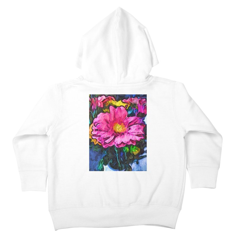 The Flames in the Soul of the Pink and Yellow Flower Kids Toddler Zip-Up Hoody by jackievano's Artist Shop