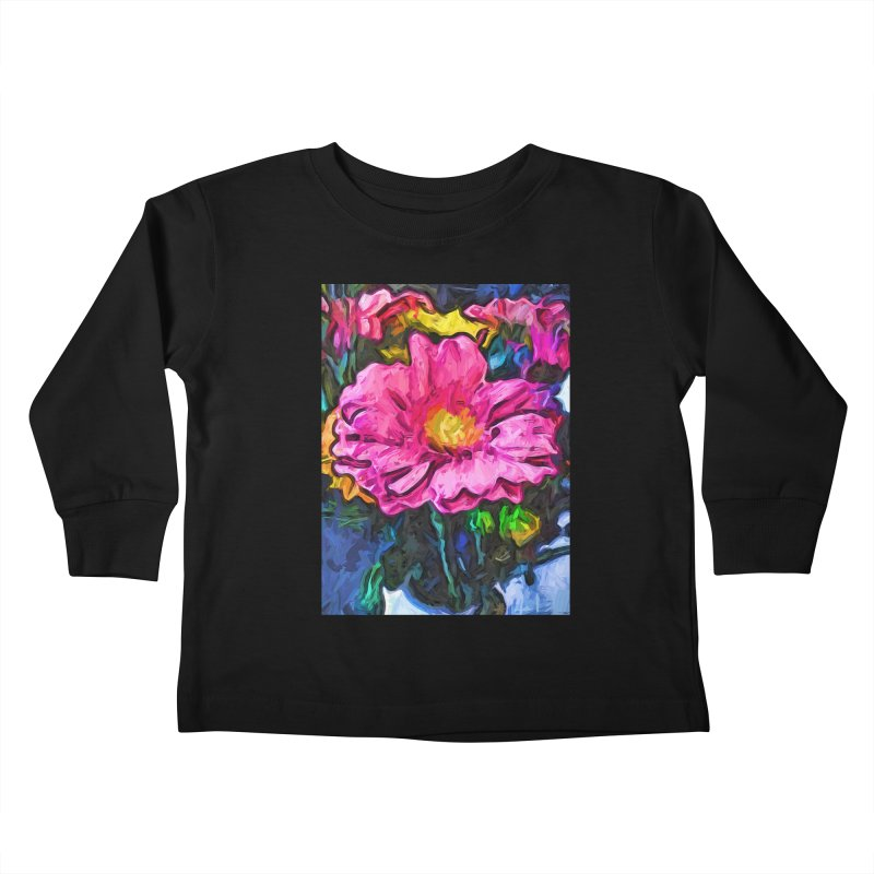 The Flames in the Soul of the Pink and Yellow Flower Kids Toddler Longsleeve T-Shirt by jackievano's Artist Shop