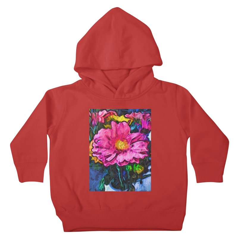 The Flames in the Soul of the Pink and Yellow Flower Kids Toddler Pullover Hoody by jackievano's Artist Shop