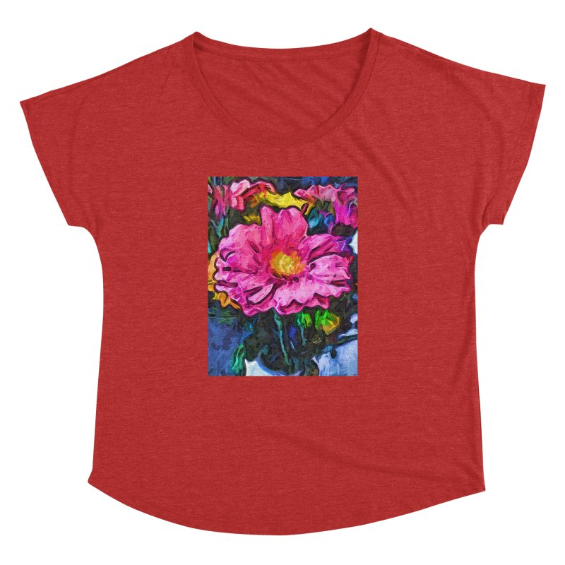 The Flames in the Soul of the Pink and Yellow Flower Women's Dolman by jackievano's Artist Shop