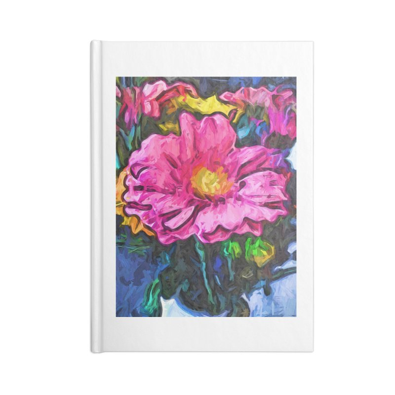The Flames in the Soul of the Pink and Yellow Flower Accessories Notebook by jackievano's Artist Shop