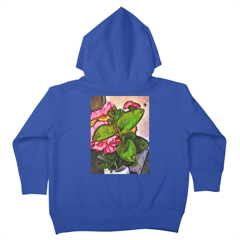 The Embrace of the Green Leaves and the Pink Flowers Kids Toddler Zip-Up Hoody by jackievano's Artist Shop