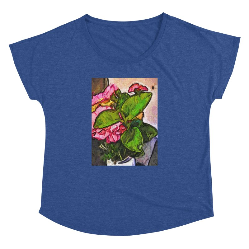 The Embrace of the Green Leaves and the Pink Flowers Women's Dolman by jackievano's Artist Shop