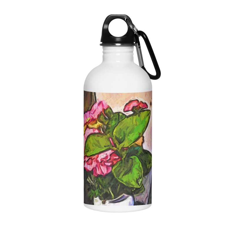 The Embrace of the Green Leaves and the Pink Flowers Accessories Water Bottle by jackievano's Artist Shop