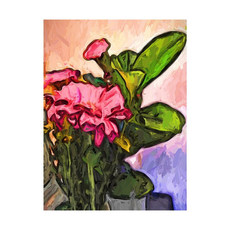 The Embrace of the Pink Flowers and the Green Leaves by jackievano's Artist Shop