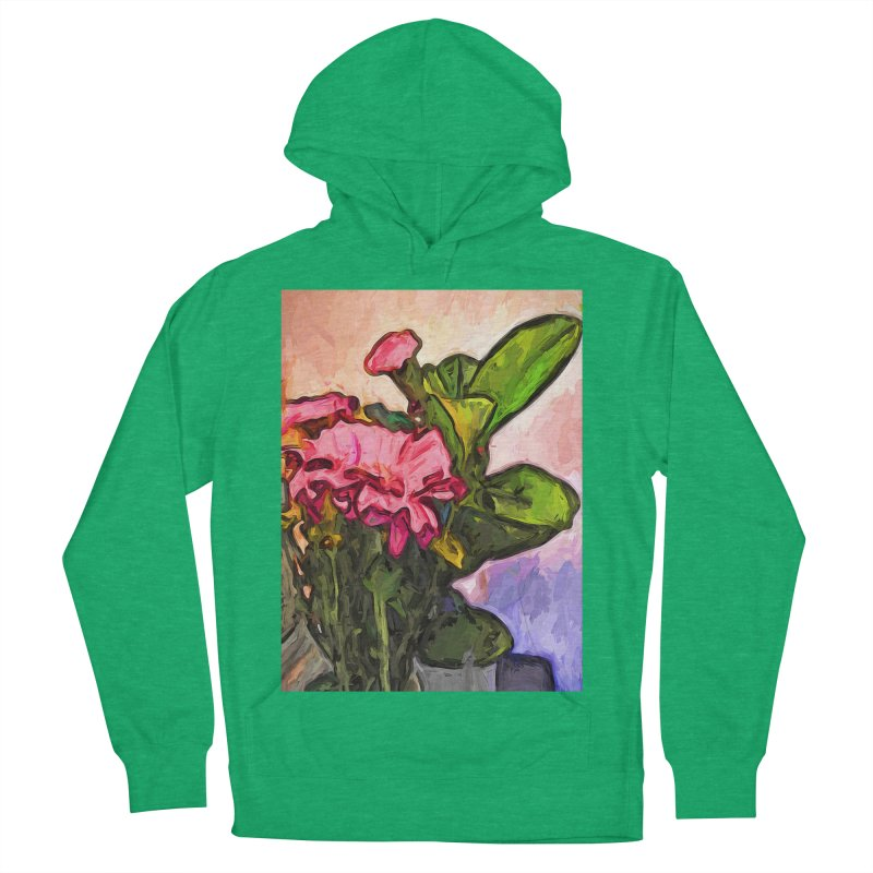 The Embrace of the Pink Flowers and the Green Leaves Women's Pullover Hoody by jackievano's Artist Shop