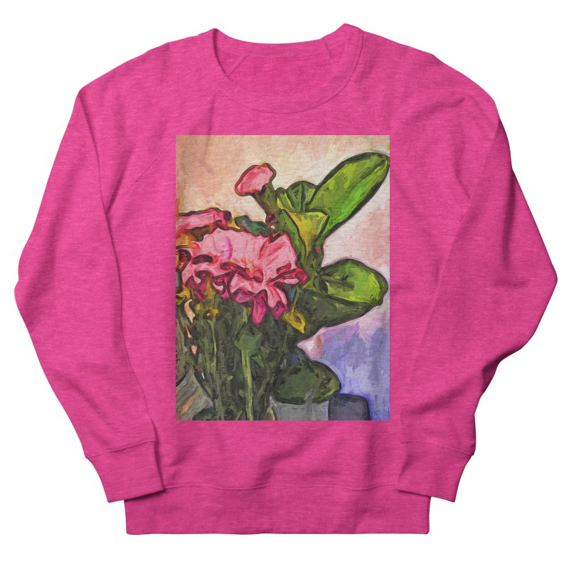 The Embrace of the Pink Flowers and the Green Leaves Women's Sweatshirt by jackievano's Artist Shop