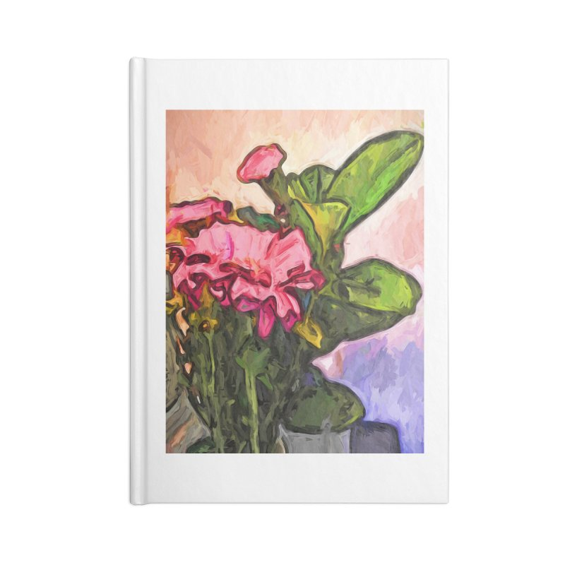The Embrace of the Pink Flowers and the Green Leaves Accessories Notebook by jackievano's Artist Shop