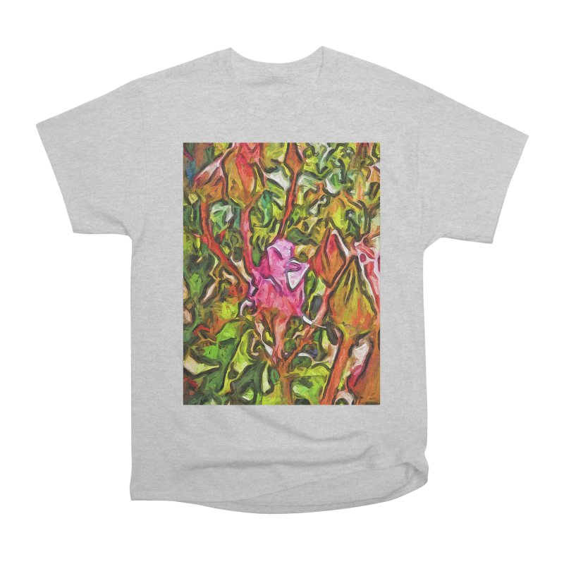 The Radiant Love of the Pink Rosebud Men's Heavyweight T-Shirt by jackievano's Artist Shop