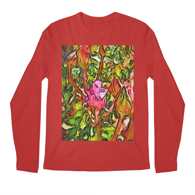 The Radiant Love of the Pink Rosebud Men's Longsleeve T-Shirt by jackievano's Artist Shop