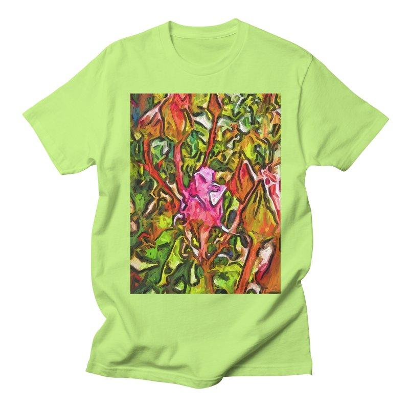 The Radiant Love of the Pink Rosebud Men's T-Shirt by jackievano's Artist Shop