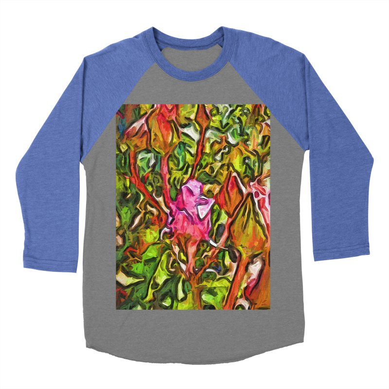 The Radiant Love of the Pink Rosebud Women's Baseball Triblend T-Shirt by jackievano's Artist Shop