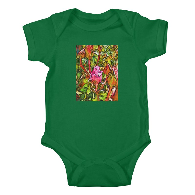 The Radiant Love of the Pink Rosebud Kids Baby Bodysuit by jackievano's Artist Shop