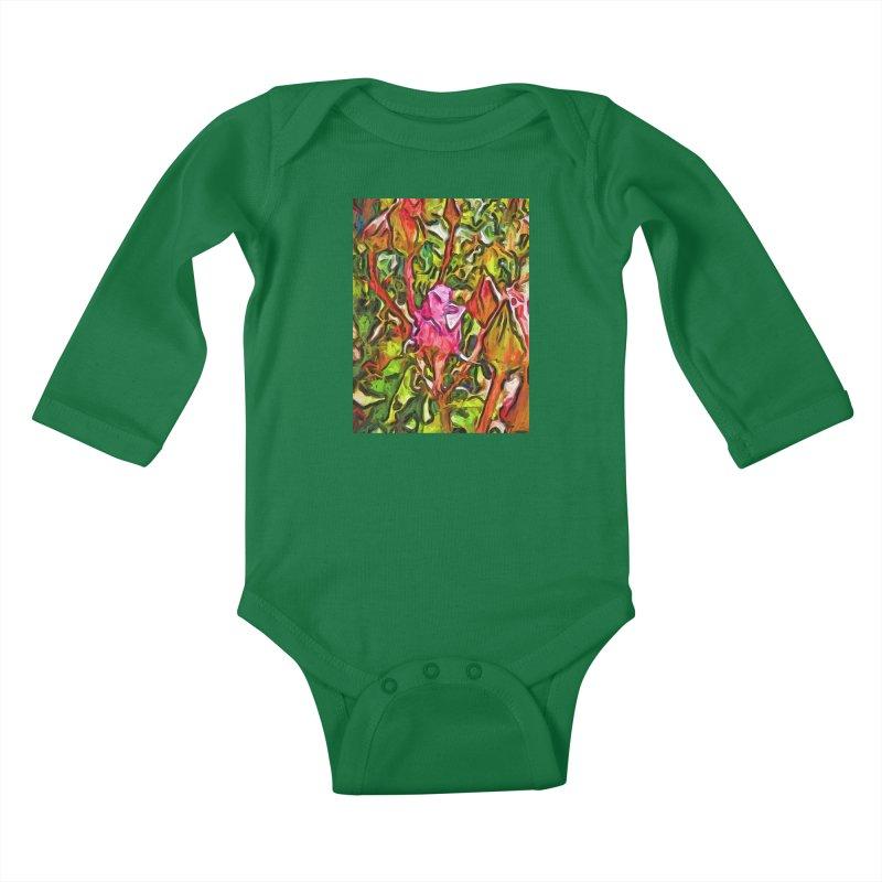 The Radiant Love of the Pink Rosebud Kids Baby Longsleeve Bodysuit by jackievano's Artist Shop