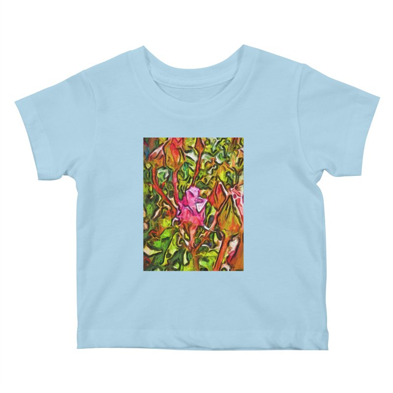 The Radiant Love of the Pink Rosebud Kids Baby T-Shirt by jackievano's Artist Shop