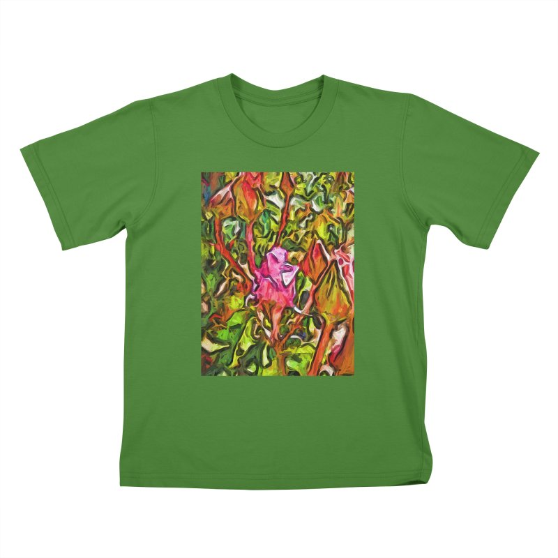 The Radiant Love of the Pink Rosebud Kids T-Shirt by jackievano's Artist Shop