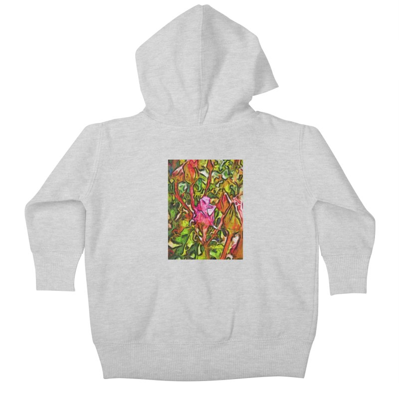 The Radiant Love of the Pink Rosebud Kids Baby Zip-Up Hoody by jackievano's Artist Shop