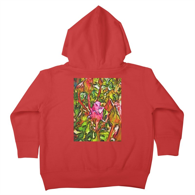 The Radiant Love of the Pink Rosebud Kids Toddler Zip-Up Hoody by jackievano's Artist Shop