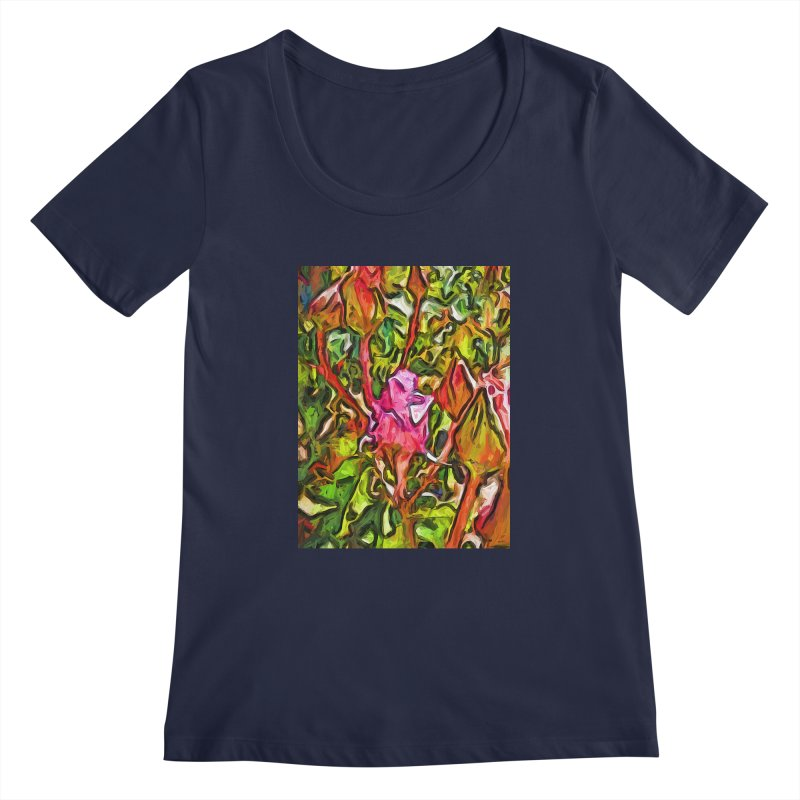The Radiant Love of the Pink Rosebud Women's Scoopneck by jackievano's Artist Shop