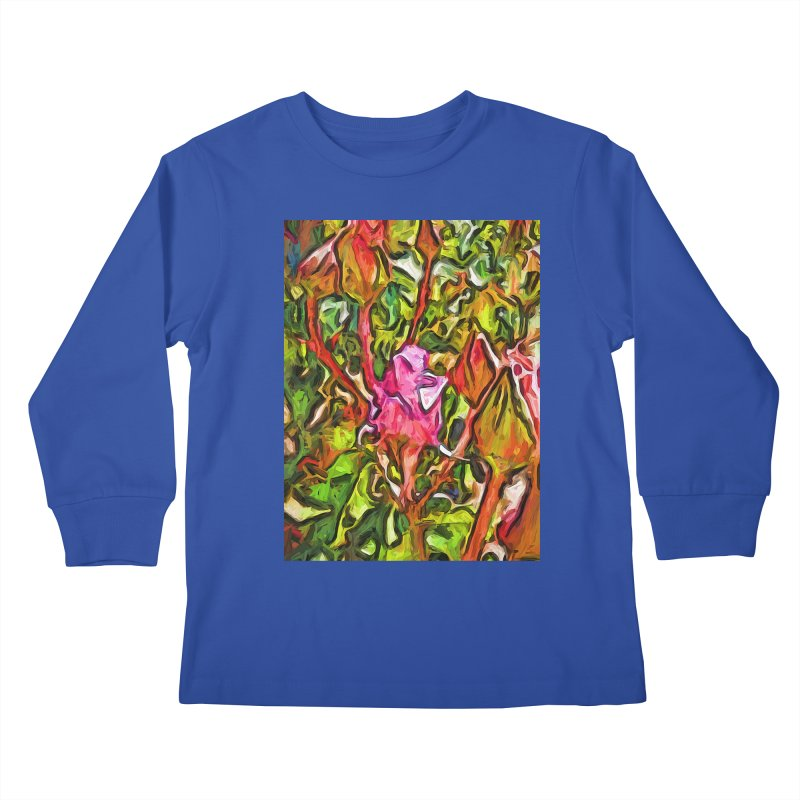 The Radiant Love of the Pink Rosebud Kids Longsleeve T-Shirt by jackievano's Artist Shop