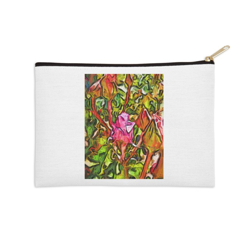 The Radiant Love of the Pink Rosebud Accessories Zip Pouch by jackievano's Artist Shop