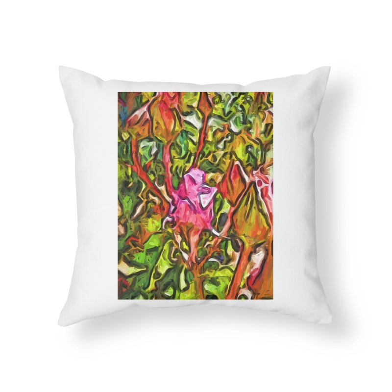 The Radiant Love of the Pink Rosebud Home Throw Pillow by jackievano's Artist Shop